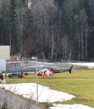 Helikopter landet beim Johanneum